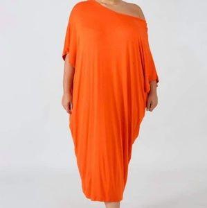 Orange Lounging Tunic Dress